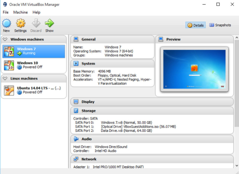 Oracle VM VirtualBox 6.0.6 Build 130049 Virtua10