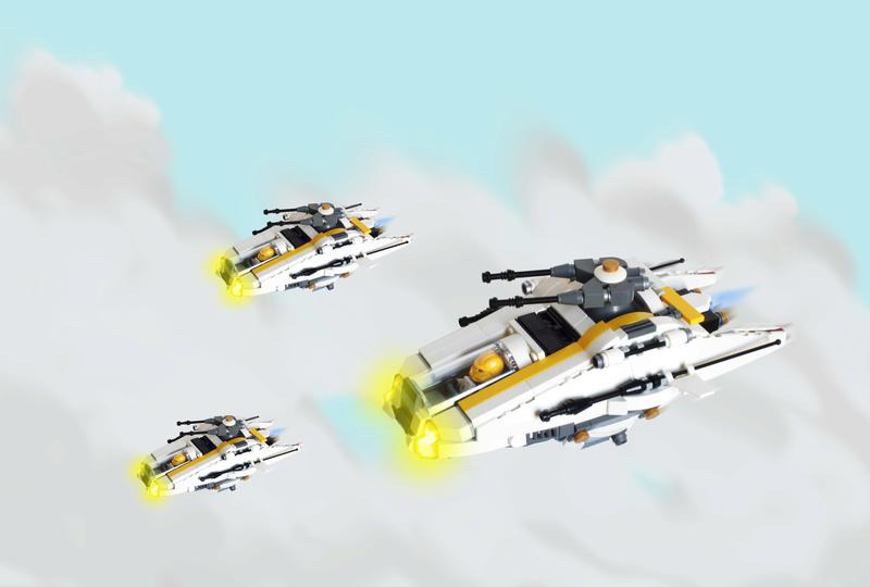 [MOC] Navette d'assaut légère LAS-01 de la Fédération Minière Galactique(Version finale et montage)  Fondci10