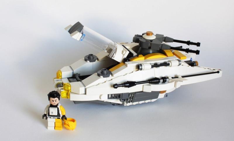 [MOC] Navette d'assaut légère LAS-01 de la Fédération Minière Galactique(Version finale et montage)  Img_2817