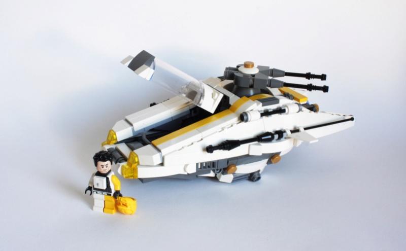 [MOC] Navette d'assaut légère LAS-01 de la Fédération Minière Galactique(Version finale et montage)  Img_3017