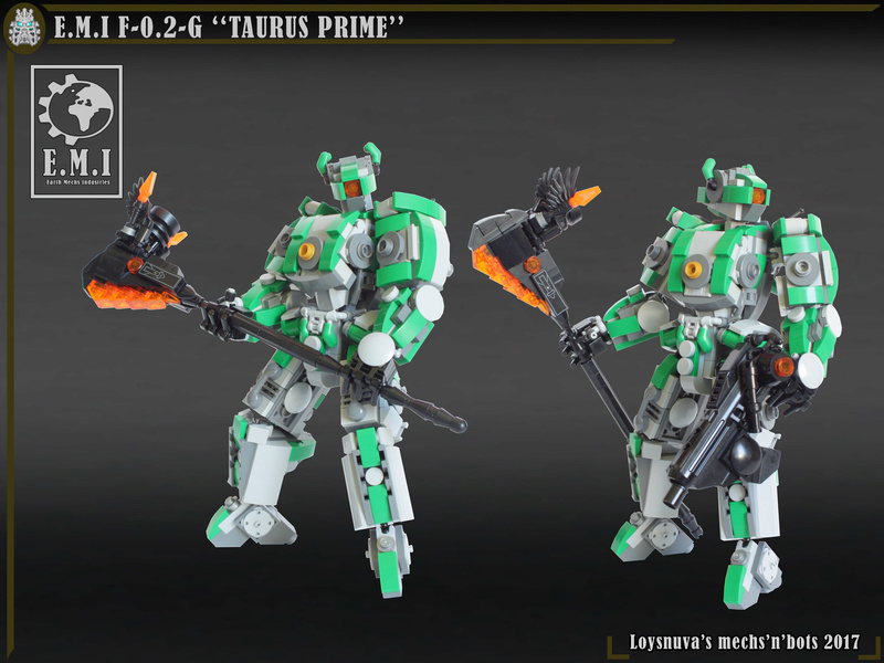 "[MOC] E.M.I F-0.2-G ""TAURUS PRIME"" (mécha de mêlée) Taurus10"