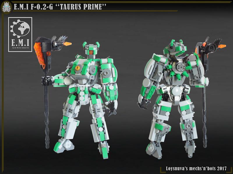 "[MOC] E.M.I F-0.2-G ""TAURUS PRIME"" (mécha de mêlée) Taurus11"