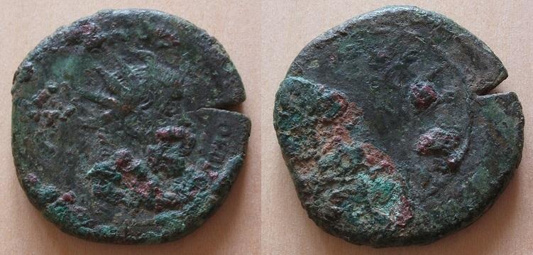 Postume surfrappé sur un sesterce de Trajan Postum10