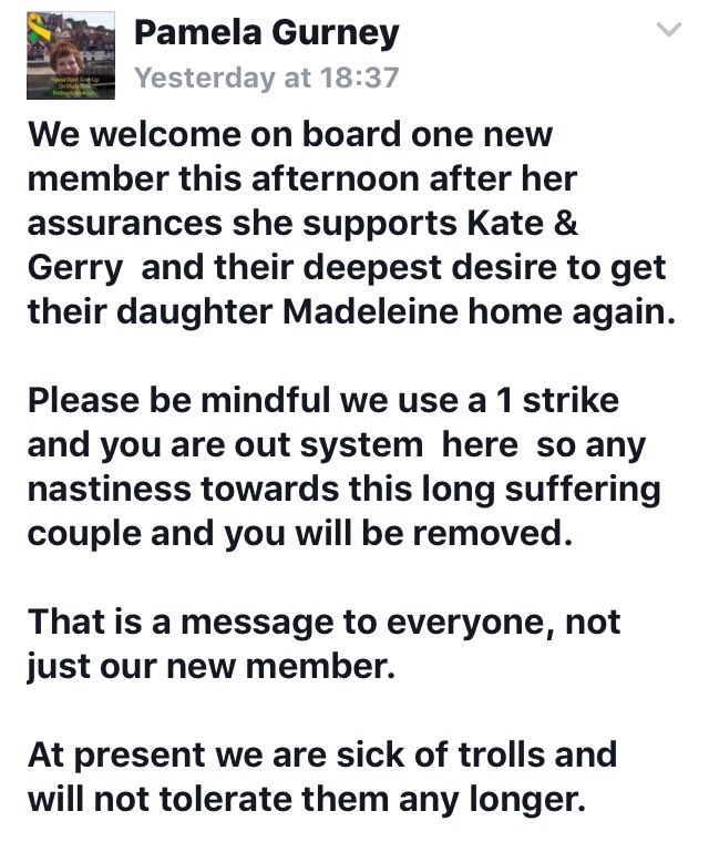 Official Madeleine McCann Facebook page and website news - Page 3 Pg310