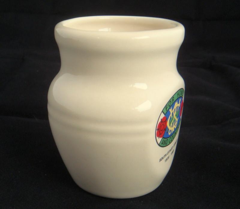 Little Teal flat face vase - Country Women's Institute Dsc06011