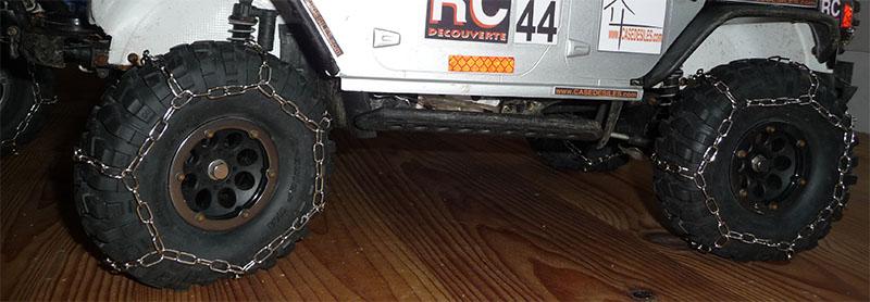 Fabriquer des chaines de roue pour SCX10 et tout Scale Trial et Crawler Chaine10
