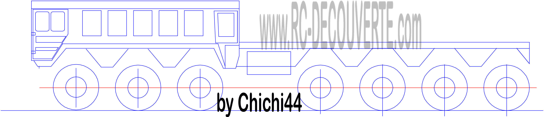 Schéma Tracé Dessin du Chassis Axial Scx10 4x4 6x6 Chassi11