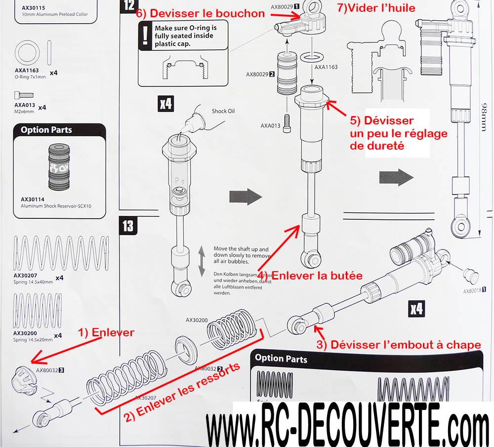 Comment régler ses suspensions ou amortisseurs pour plus de croisement pour scale 4x4 et crawler Suspen12