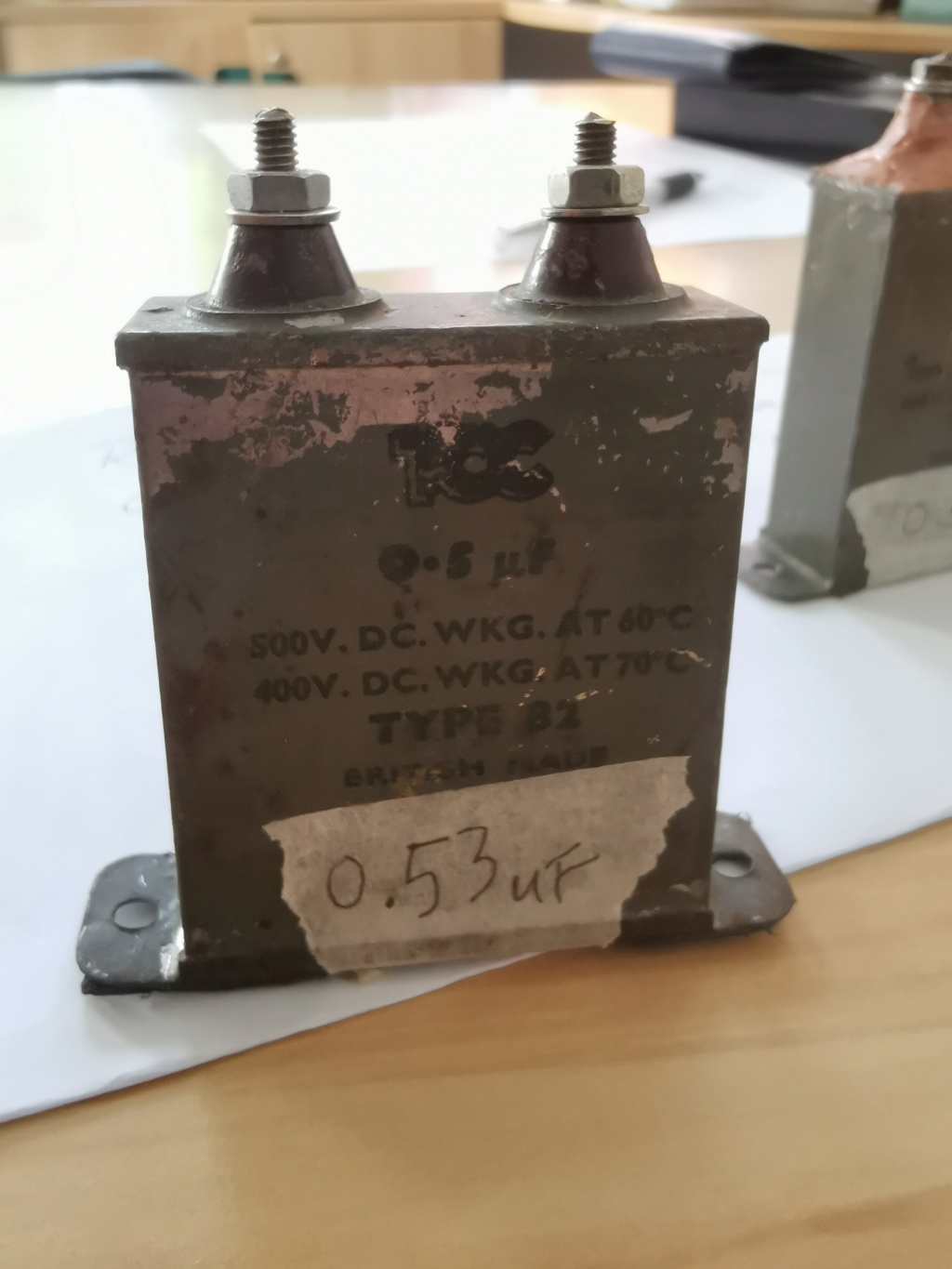 TCC 0.5uf Capacitor Oil Filled Capacitor Vintage (used) Img_2018