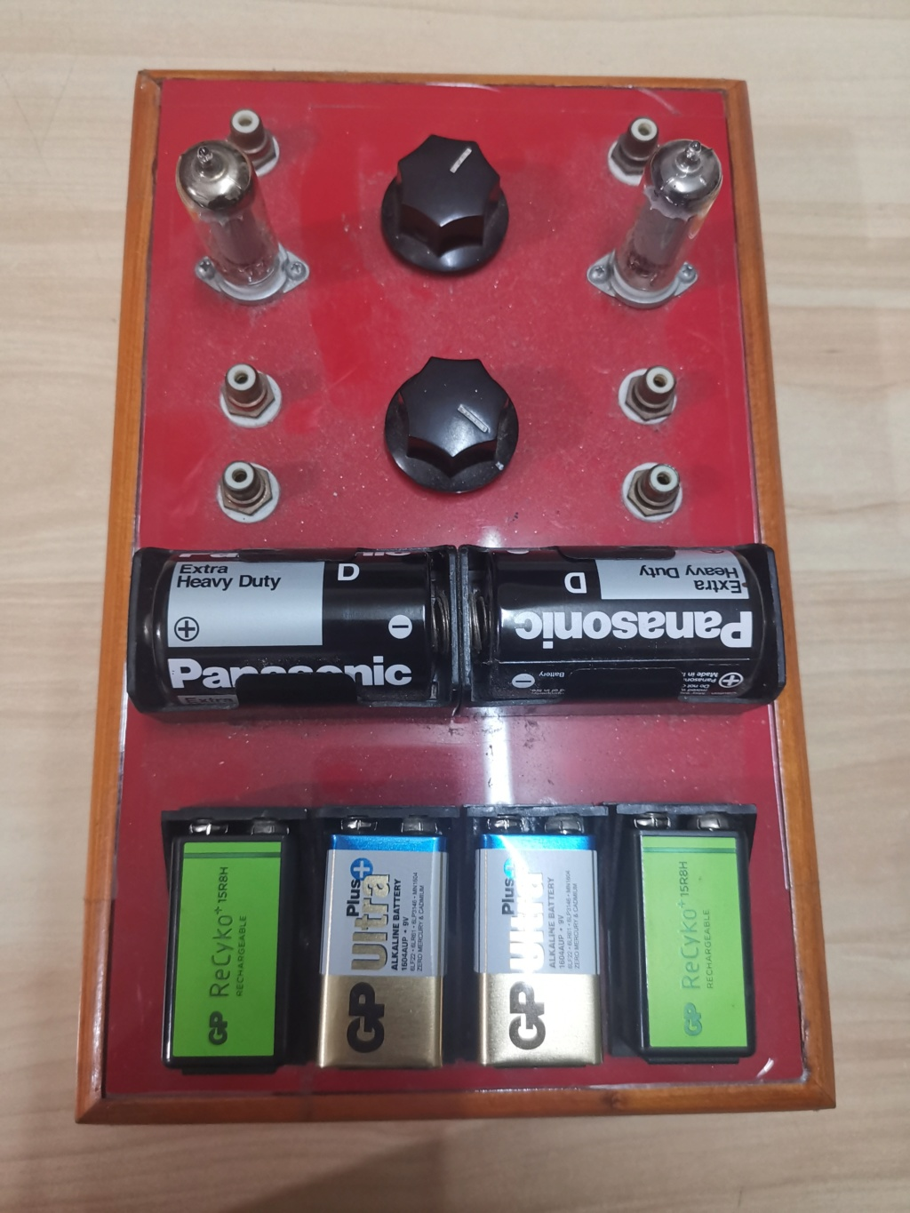 Battery powered 3S4 pentode tube preamplifier (used) Img_2023