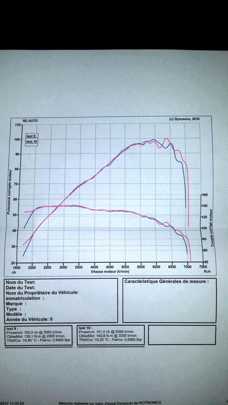 mise au point / réglage moteur 1.9L 130 20170511