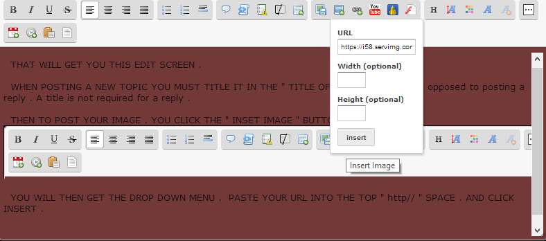 HOW TO ADD AN IMAGE URL ANYWHERE IN THIS WEBSITE Insert14