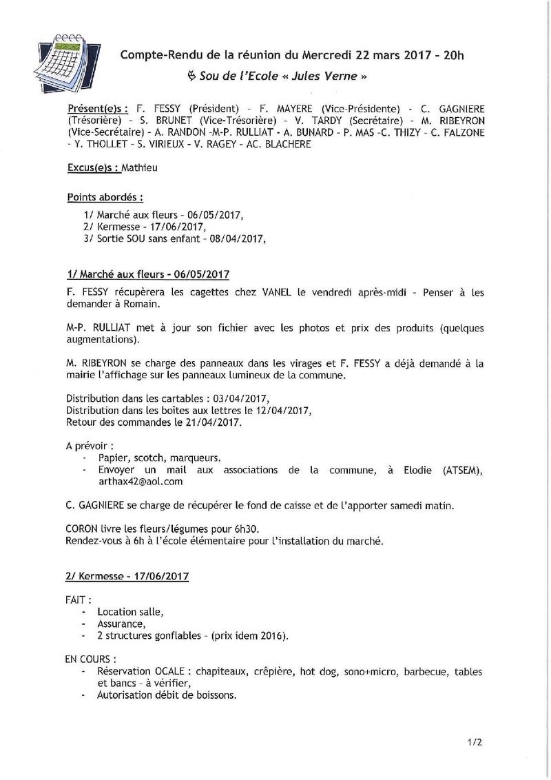COMPTE RENDU DE REUNION Acfrog13