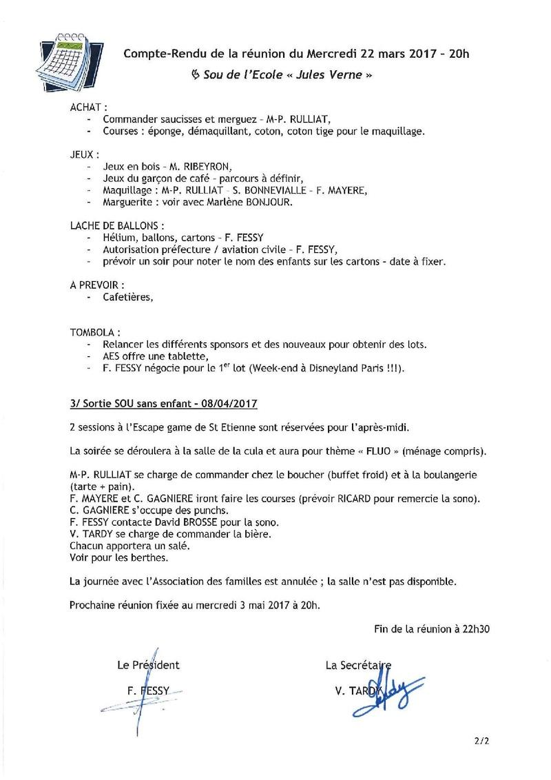 COMPTE RENDU DE REUNION Acfrog14