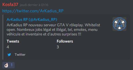 Le twitter ArKadius Tweeta10