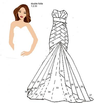 robe en irisfolding. Diva2010