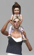 Poses Parents Enfants/Bambins 1423