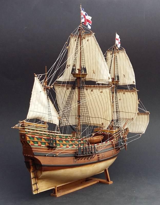 Mayflower Pilgrim-Ship, Revell 1/83 Comp_217