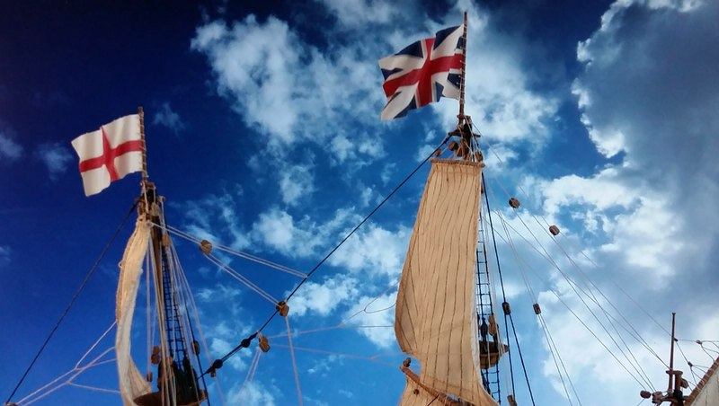 Mayflower Pilgrim-Ship, Revell 1/83 Comp_222