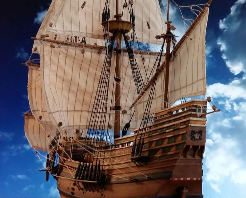 Mayflower Pilgrim-Ship, Revell 1/83 Comp_223
