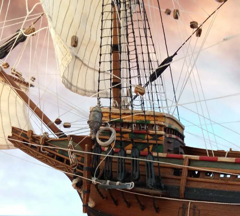Mayflower Pilgrim-Ship, Revell 1/83 Comp_224