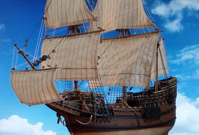 Mayflower Pilgrim-Ship, Revell 1/83 Comp_225