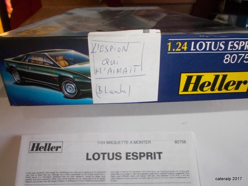 LOTUS ESPRIT 1/24ème Réf 80758 Heller15