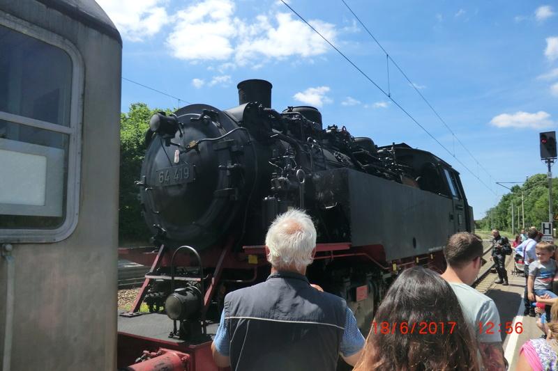Dampflok 64 419 beim Bahnhofsfest Cimg1710