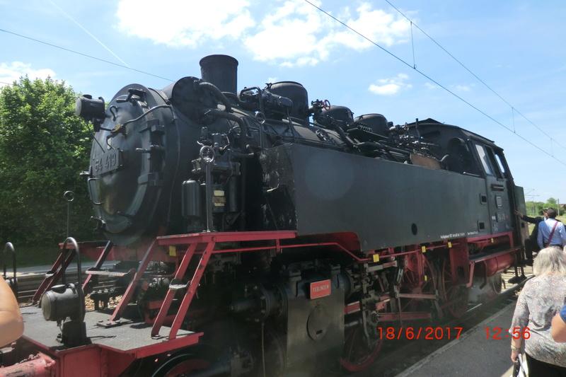 Dampflok 64 419 beim Bahnhofsfest Cimg1711