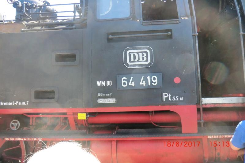 Dampflok 64 419 beim Bahnhofsfest Cimg1713