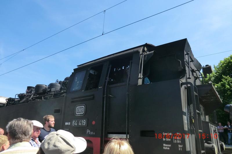 Dampflok 64 419 beim Bahnhofsfest Cimg1715