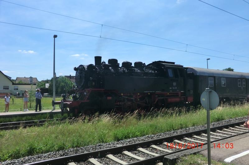 Dampflok 64 419 beim Bahnhofsfest Cimg1716