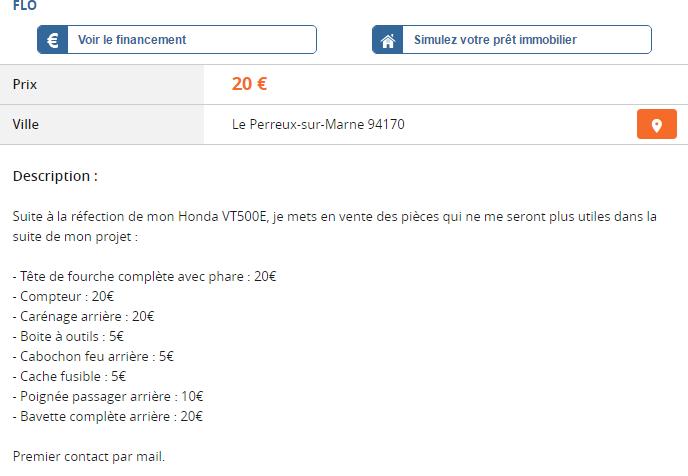 VT500E Pièces diverses à vendre Captur10