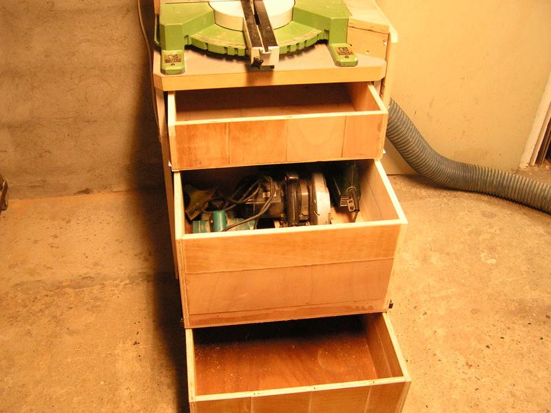 Un meuble caisson pour ma scie à onglet  Caison13