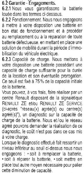 Remplacement de la batterie en garantie Garant10