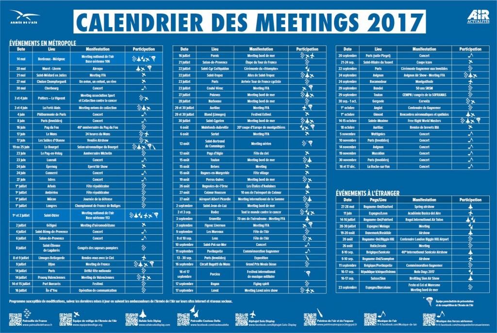 CALENDRIER DES MEETINS 2017 27419010