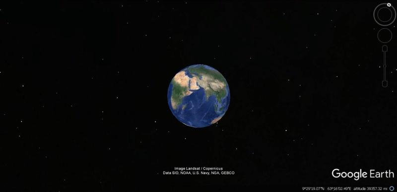 Activation des reliefs sur Google Earth 216