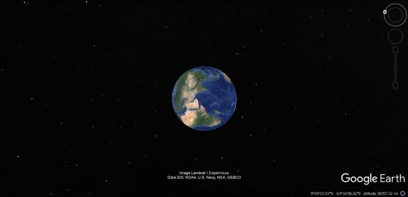 Activation des reliefs sur Google Earth 217