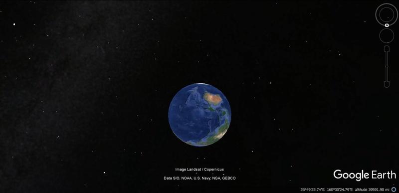 Activation des reliefs sur Google Earth Terre10