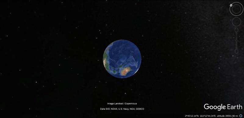 Activation des reliefs sur Google Earth Terre11
