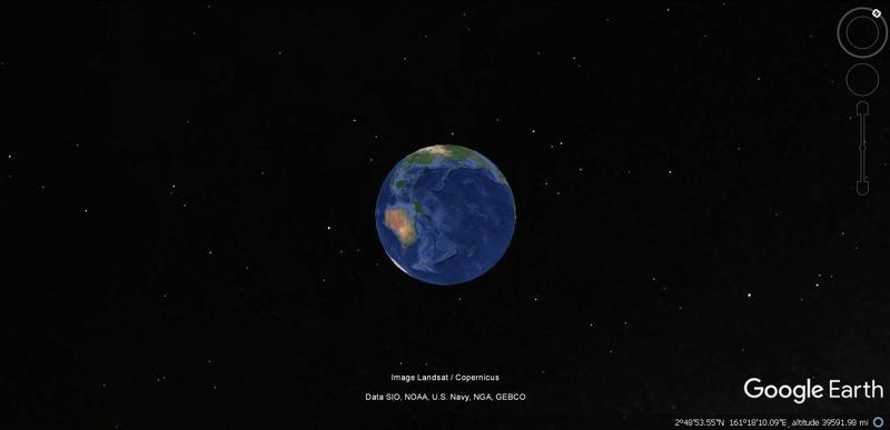 Activation des reliefs sur Google Earth Terre12