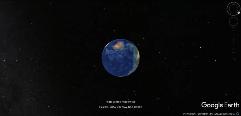 Activation des reliefs sur Google Earth Terre13