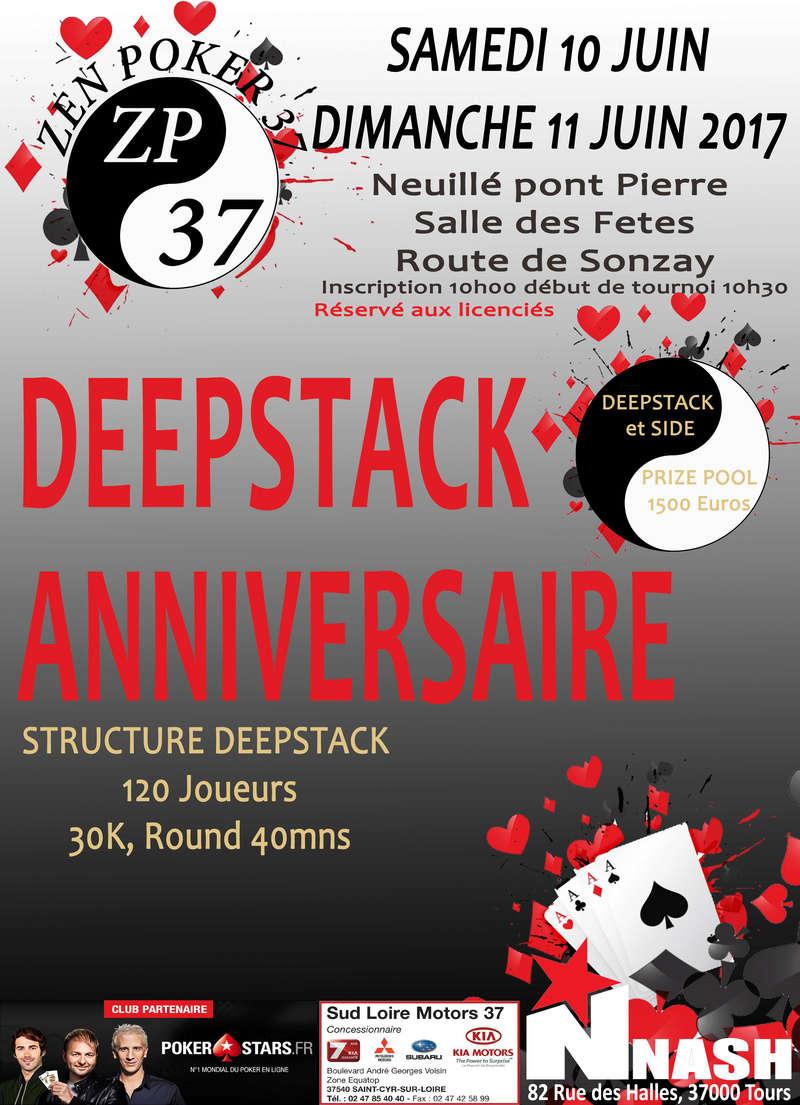 deepstack anniversaire zen poker 37, 10 et 11 juin 2017. Affich11