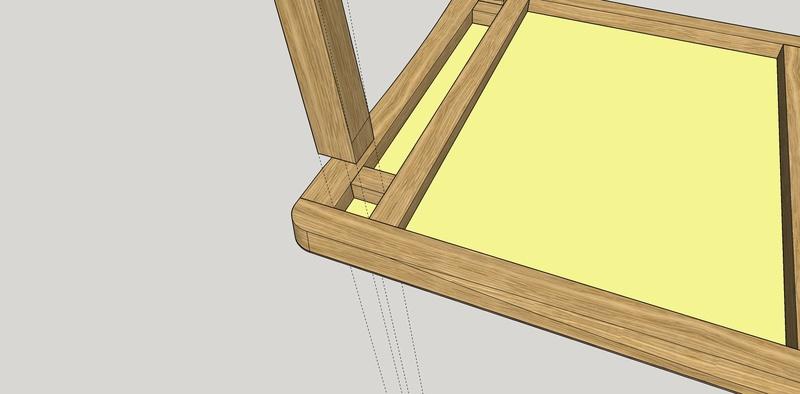 Table basse en chêne Dessou12