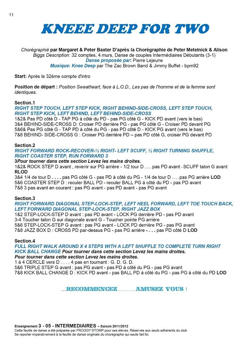 2011/ 2012 CHOREGRAPHIES DEBUTANTS NOVICES INTERMEDIAIRES 11_i_11