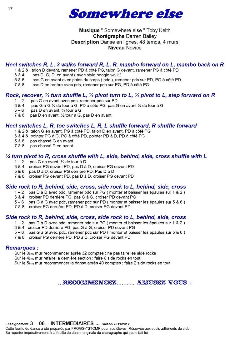 2011/ 2012 CHOREGRAPHIES DEBUTANTS NOVICES INTERMEDIAIRES 17_i_11