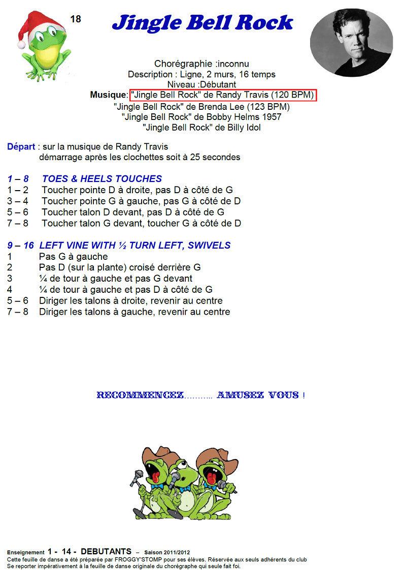 2011/ 2012 CHOREGRAPHIES DEBUTANTS NOVICES INTERMEDIAIRES 1811