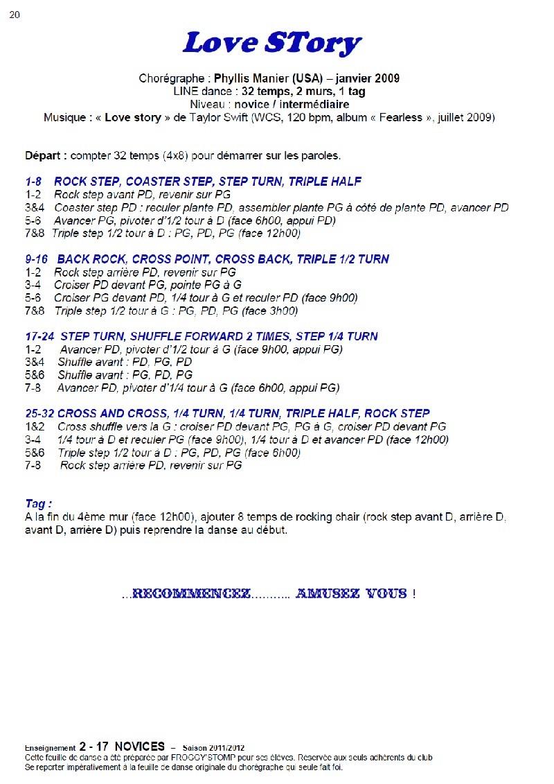 2011/ 2012 CHOREGRAPHIES DEBUTANTS NOVICES INTERMEDIAIRES 20_n12