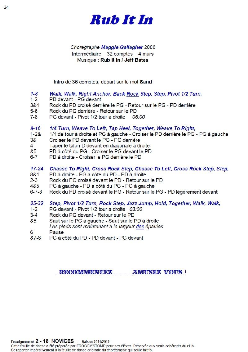 2011/ 2012 CHOREGRAPHIES DEBUTANTS NOVICES INTERMEDIAIRES 24_n12