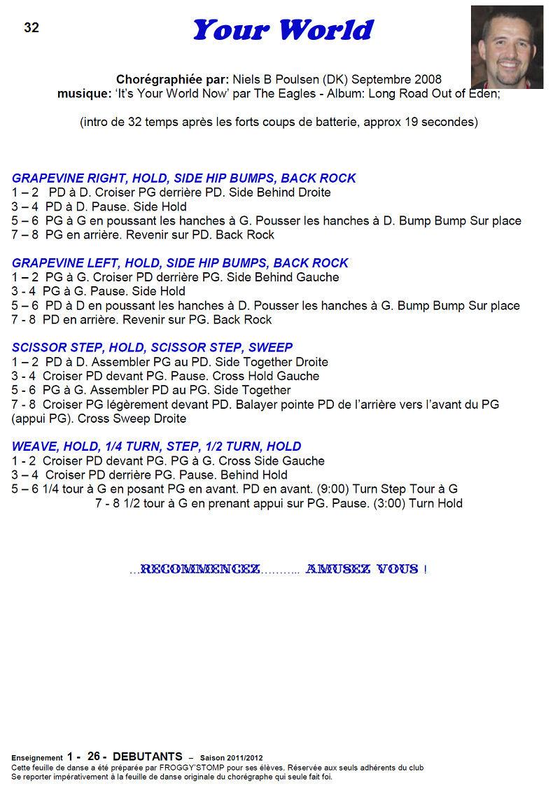 2011/ 2012 CHOREGRAPHIES DEBUTANTS NOVICES INTERMEDIAIRES 3211